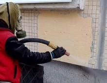 Испытание оборудования по очистке фасадов без повреждения
