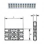 280572 Эластичный разъем с плоским штекером, 12 полюсный 2,8x0,8мм (упак 50 шт) Haupa
