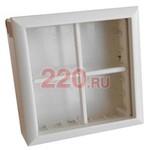 SM45/8 Коробка для о/п на 8 модулей для механизмов 45х45 мм (суппорт не нужен) (бел.)