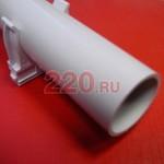 Труба ПВХ жесткая легкая диам. 16 (2м) RAL 7035