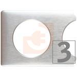 Рамка 3 поста, цвет алюминий, серия Celiane, пр-во Legrand