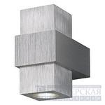 151362 SLV AIDAN UP-DOWN светильник настенный 2хLED 1Вт, алюминий/LED белый теплый