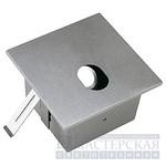 112802 SLV FOK LED светильник встр. WW LED 1Вт, мат. алюминий