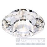 114927 SLV CRYSTAL 7 светильник встр. G4 20Вт макс., хром/стекло прозрачное кристаллическое