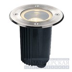 229320 SLV DASAR 115 ROUND GU10 светильник встр. IP67 GU10 35Вт макс., сталь