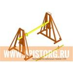 (арт. Kb1) КБ-1 Стойка кабельная винтовая ™АПИС   - для удержания и размотки кабельных барабанов тип №10 | весом до 1 тонны.