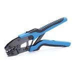"""CTB Пресс-клещи набор """"Электрик"""" (™КВТ)   - профессиональный набор для опрессовки коннекторов + комплект из 5-ти сменных матриц для сечения 0,25-25 мм/кв."""