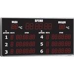 Табло для бассейна, Импульс-721-D21x6-D15x4-L6xD15x7-2T-ER (6 дорожек)
