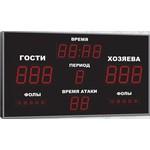 Спортивное табло для баскетбола, модель Импульс-715-D15x6-D11x7-S5x2-ER2 (Уличное исполнение)