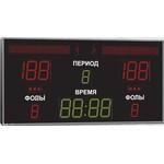 Спортивное табло для баскетбола, модель Импульс-721-D21x10-D15x3-L2xS8x64-S3x2-Ax2-ERG2 (Уличное исполнение)