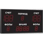 Спортивное табло для баскетбола, модель Импульс-721-D21x6-D15x7-ER2 (Уличное исполнение)