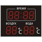 Спортивное табло для бассейна №10, модель ТС-210х8b_tx2