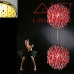 AXO Light AURA SPAU602RSORE27 подвесной светильник красный