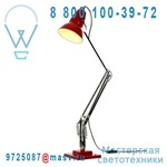30951 Lampe de bureau Rouge fil Noir/Blanc - DUO 1227 Anglepoise
