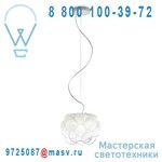 F21 A01 71 (2 colis : F21A01S 01 + F21A01V 71) Suspension M Verre - CLOUDY Fabbian