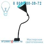 IN-ES070015N-T Lampe de sol Noir/Turquoise - FLOWER LAVAGNA In-es Artdesign
