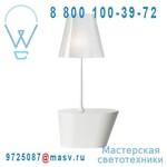 362102500 + 862282501 Lampadaire Blanc/Blanc chinz - AMERICA Metalarte