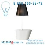 362102500 + 862284701 Lampadaire Blanc/Noir chinz - AMERICA Metalarte