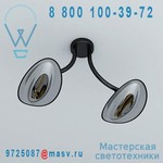 HBA2101030015 Plafonnier double d'exterieur chauffant Noir/Chrome - HOTDOOR Phormalab