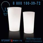 LP XPT085A Vase lumineux d'exterieur H83cm et O49cm - X-POT LIGHT Slide