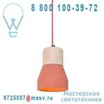 CWL A Rouge Suspension Beton Rouge/Bois - CEMENT WOOD LAMPS Specimen Editions