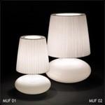 Настольная лампа Bover MUF-02 2215522 Матовое стекло-хром
