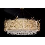 Подвесные светильники Tredici Design 1347.7CR CP бело-золотой