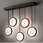 Светильник настенный Florian CIRCLE L5 WALL SPECIAL LAMP - 4 black/ 1 red, satin glass (F3.054)