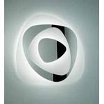 0504171363632 Leucos Studio бра/потолочный свет-к Air 60, белое стекло/ зеркало, дл 57см, 1х55W 2GX13 T5, белый металл