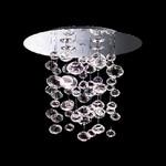 """0403017083412 Leucos Modo Светильник потолочный """"Ether 90 S"""" 4x75W G53, прозрачное стекло, блестящий металл, 100х86"""