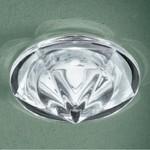 0301209363411 Leucos Studio встраиваемый потолоч свет-ник SD892, прозрач блестящее стекло, диам10см, 1х50W GZ10, белый