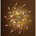0204280063901 Leucos Modo Бра/светильник потолочный Astree P PL10, янтарь, диам 130см, 10x40W E14, золото