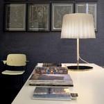 Светильник настольный Vistosi EXPO. Cloth tavol grand Bianco metall cromo E27