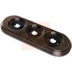 Рамка 3 поста, Античная Медь, серия Лизетта, пр-во Bironi