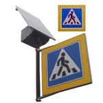 КТППА-1-80/65-Р, (кнопка вызова обычная) Комплект информационный табло пешеходного перехода с автономным питанием КТППА-1 (с радиоканалом)