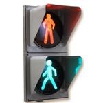Светодиодный пешеходный светофор П.1.2 - d 300 мм (МАСКА, бленда квадратная)