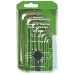 100915 Набор шестигранный ключей из 8 шт.со сферич.головкой haupa