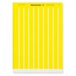 1724151687 WEIDMULLER  Маркировка для печати на лазерном принтере 17/9 ge-15,24х4,63 (желтая)