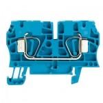 1632060000 WEIDMULLER  Клеммная колодка пружинная ZDU 4 BL синяя