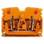 1704370000 WEIDMULLER  Промежуточная клемма ZDUB 2.5-2/2AN/DM OR, непосредственный монтаж, оранжевый полиамид.