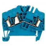 1706040000 WEIDMULLER  Клеммная колодка пружинная ZDU 2.5-2/3AN на дин-рейку синяя