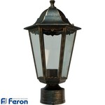 Светильник садово-парковый, 100W 230V E27 черное золото, 6203