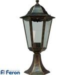 Светильник садово-парковый, 100W 230V E27 черное золото, 6204