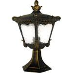 Светильник садово-парковый, 60W 230V E27 черное золото, 2003S