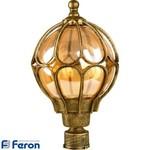 Светильник садово-парковый, 60W 230V E27 черное золото, IP44, PL3703