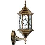 Светильник садово-парковый, 60W 230V E27 черное золото, PL122