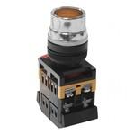 Кнопочный выключатель ABLF-22       желтая        с подсветкой   1з+1р  230В
