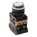 Кнопочный выключатель ABLFS-22       белая        с подсветкой   1з+1р  230В