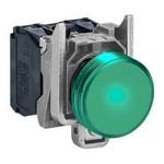 Светосигнальная арматура  зеленая  для ламп  до 50 В.