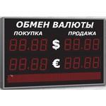 Уличное табло курсов валют Импульс-309-2x2-S8x64-EY2